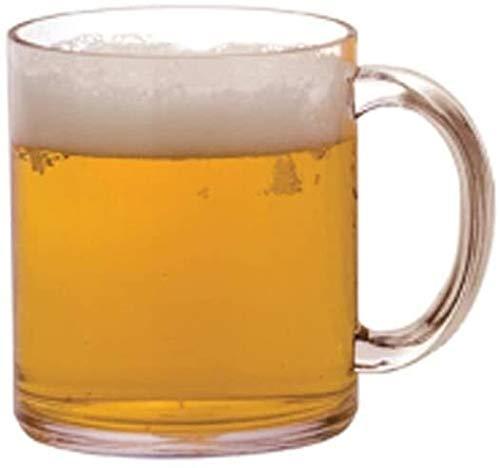 Hs&sure Cerveza Vidrio acrílico Mango de Vidrio Vidrio Vidrio de té fácil de Usar (Color : A)