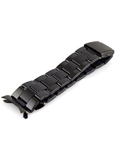 Alienwork IK Cinturino orologio nero Bracciale in Acciaio