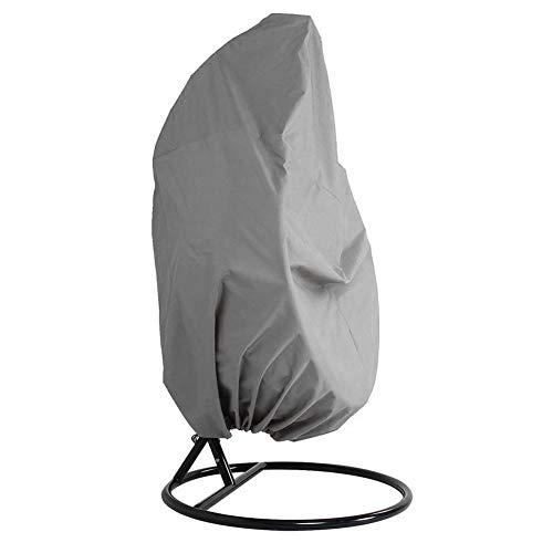 QLING Abdeckung für Hängesessel, wasserfest beschichtet, für Terrasse, Balkon, Veranda, Lounge, Schaukelstuhl, Gartenmöbel, Schutzabdeckung, Eierstuhl, Staubschutz, grau, Free Size