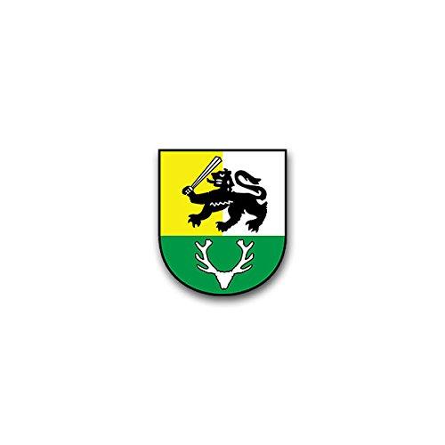 Copytec Aufkleber/Sticker - PzGrenBtl 12 PanzerGrenadierBataillon Heer Rommel-Kaserne Osterode Harz Bundeswehr Wappen Abzeichen Emblem passend für BMW Audi Mercedes Benz VW (7x6cm)#A1378