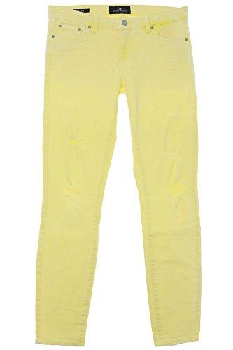 LTB Mina Jeans Hose Pants Damen Stretch Super Slim Fit Röhrenjeans Used Look, Farbe:hellgelb, Damengrößen:28