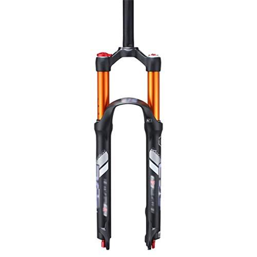 TESITE Horquilla de Bicicleta MTB Horquilla amortiguadora/Presión De Aire Tubo Recto/Control de Hombro Ajuste de amortiguación/para Accesorios De Bicicleta (26',27.5')