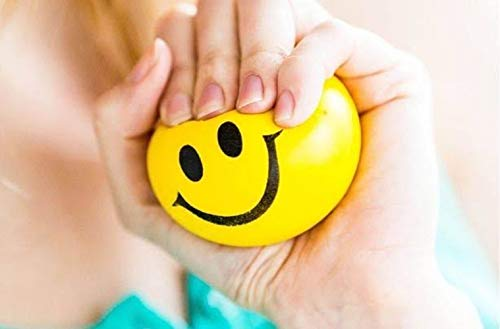 Trendy Works Anti Stress Balls, Stress Ball, Stress Relief Ball ,Smiley Squeezers,Hand Exercise Stress Balls, Perfect for Relieving Stress, Smiley Ball 1pc