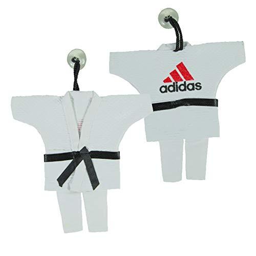 adidas Mini Karate Anzug 16 cm Jacke Deko Anhänger Schlüsselanhänger weiß Karatejacke Karateanzug klein Geschenk Idee Judo Gi Taekwondo Ju Jutsu Tae Kwon Do BUDO Kampfsport …