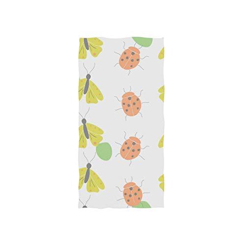 DEZIRO Cute Ladybird - Toallas de Deporte Muy absorbentes