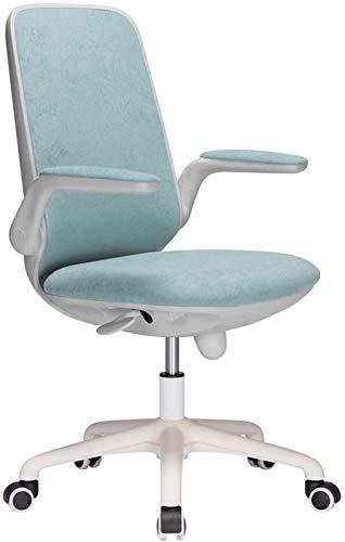 CSD Stuhl Home Office Chair Student Studie Stuhl Padded Rotating Armlehne Fleece atmungsaktiv Home Desk Stuhl vertikal bewegliche Lordosenstütze Tragfähigkeits 260 Lbs Blau