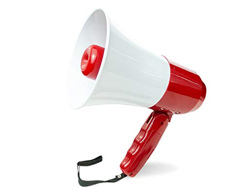 japomizuno Rechargeable Megaphone speaker,bullhorn with lithium battery,...