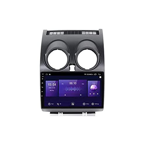 Android 10.0 Sat Nav Car Stereo 2 Din Radio para N-issan Qashqai J10 2006-2013 Navegación GPS 9'' Pantalla táctil MP5 reproductor multimedia receptor de video con 4G/5G WiFi Carplay