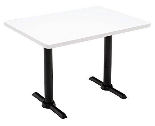 """KFI Seating Mode Multipurpose Table, 41"""" H x 30"""" W x 60"""" D, Designer White -  KFI Studios, T3060-B2065-BK-D354-38"""