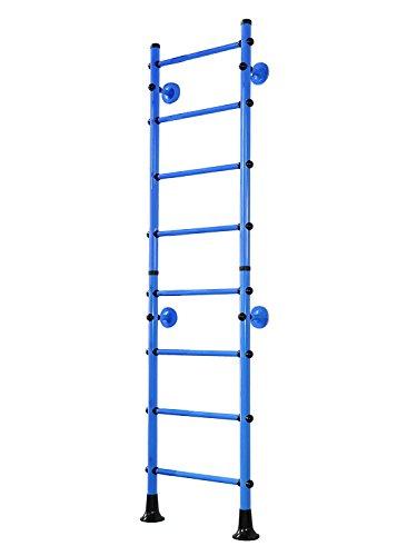 Espaldera Turn pared pared de escalada klettergerüst Niños doméstica Sport dispositivo FitTop M4, azul