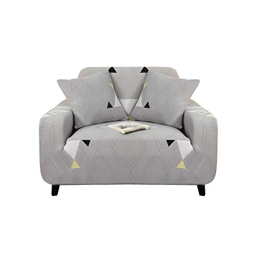 Presentimer - Funda para sofá, sillón, antideslizante, elástica, lavable, protector de muebles 1 seat Estilo-B
