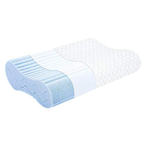 VENTDOUCE - Cuscino per dormire in memory foam, 3 strati, ergonomico, lavabile, in memory foam, per dormire, instructor, multifunzionale, per Airball