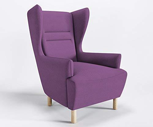 Marbet Style Design Fauteuil Relax Muno Ressorts Fauteuil Fauteuil Microfibre, Tokyo - TK102 - Lavande