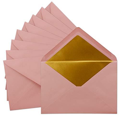 Gustav Neuser® - Sobres DIN C5 (25 unidades, 15,7 x 22,5 cm), color rosa envejecido...
