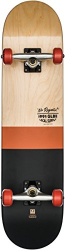 Globe G2 Half Dip 2 Skateboard, Natural/Rust, 7.75