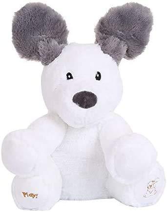 JIAL English sprechende Puppe, Hund, Electric Teddy Spielzeug, Elefant, elektrische Cantora-Puppe, Bär, Musical, Hide, Suche, Spielzeug Chongxiang (Color : Default)
