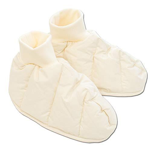 あったか 羽毛ソックス ダウン80% 洗える 日本製 Lサイズ エコテックス100認証 ダウンソックス 生地部分:綿100% 就寝用靴下 履く羽毛布団 ダウンソックス ルームシューズ スリッパ 冬 ギフト 敬老の日