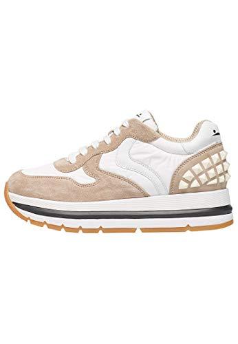 Visillo blanco Maran Studs-Sneakers de ante y tejido técnico, Beige (beige), 40...