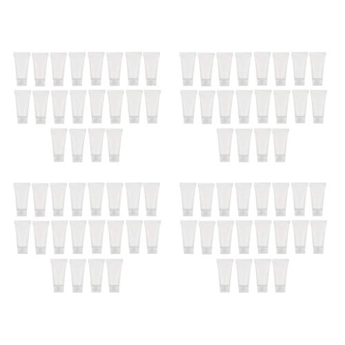 harayaa Bouteilles D'échantillon De Tubes En Plastique Rechargeables Vides De 80pcs 5ml Pour Shampooing/Crème/Lotion