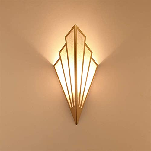 Aplique De Pared En Forma De Abanico, Lámpara De Pared LED, Aplique De Pared De Noche Para Dormitorio, Sala De Estar, Decoración De Iluminación De Pasillo (Color : Gold)