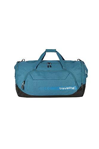 travelite große Reisetasche Größe XL, Gepäck Serie KICK OFF: Praktische Reisetasche für Urlaub und Sport, 006916-22, 70 cm, 120 Liter, petrol (türkis)