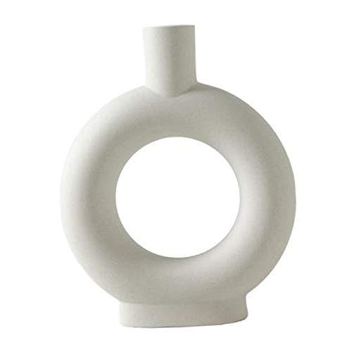 Non-brand 5-10 ''höhe Weiß Keramik Vase Elegante Blume Vase für Hochzeit Party Hause Wohnzimmer Dekorationen - Stil E