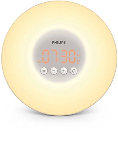 Philips Wake-up Light HF3500/01 - Despertador de luz led versión abrefácil, simulación del amanecer y del atardecer, 1 alarma, 200 Lux, blanco