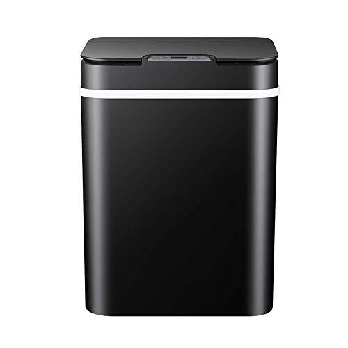 Mülltonne Bin, 12L Elektrische Vollautomatische Müllbehälter Intelligent Induktion Flip Typ Abfalleimer mit Abdeckung Moderne Müllbehälter for Küche, Schlafzimmer, Bad, Büro, Schlafzimmer, Wohnzimmer,