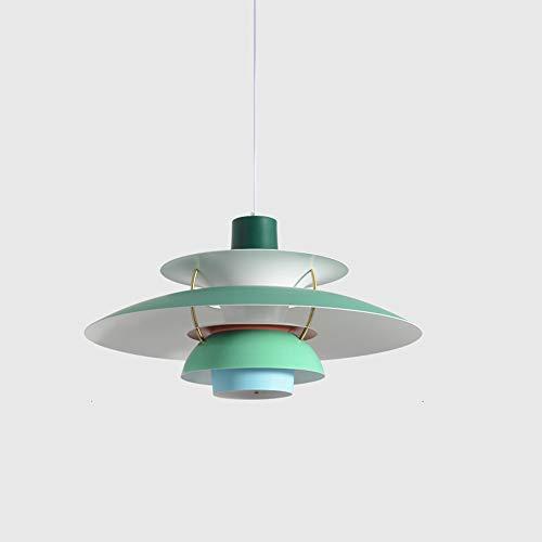 Zakjj Dänische Lampen PH5-Kronleuchter Im Nordischen Stil Dänischer Einfacher Moderner Aluminium-Kronleuchter Schlafzimmer Restaurant Bar Café-Lounge,E-50cm