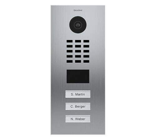 Review Of DoorBird IP Video Door Station D2103V, Flush-Mounted - 3 Call Buttons Stainless Steel (V4A...