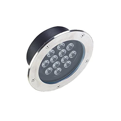 AMDHZ Adecuado para: Patios, Calles, Jardines. LED Lámpara Empotrable En El Suelo, IP67 Forma Redonda focos led Exterior, LED de Suelo al Aire Libre Color : Colorful (RGB), Size : 9W
