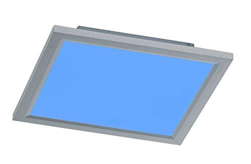 WOFI LED Deckenleuchte Oxon, Panel, Deckenlampe, Dimmbar, RGB-Farbwechsel, Aluminium, 20 W, 1.400 lm, 30 x 30 x 4,5 cm