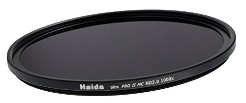 HAIDA Slim Graufilter PRO II MC (mehrschichtvergütet) ND1000x 77mm - Schlanke Fassung + Cap mit Innengriff
