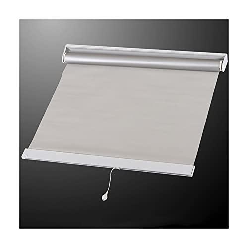 JIANFEI Cortina enrollable 100% sombreada completa para el hogar, protección de la privacidad, tira de punzón, impermeable, 2 colores, tamaño 31, personalizable (color: gris, tamaño: 150 cm x 300 cm)