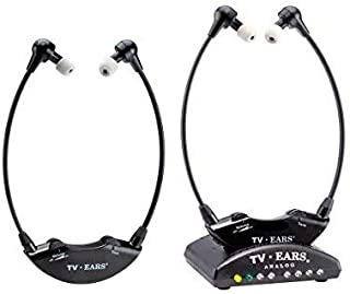 TV Ears Analog Dual Original Wireless Headset System: Analog TV Hearing Aid Devices, Hearing Assistance, TV Listening Headphones for Seniors and Hard of Hearing, Voice Clarifying,Dr Recommended-70443