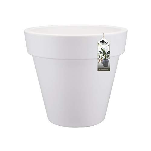 Elho Pure Round Macetero Redondo, White, 40 cm