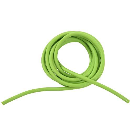 Xzante - Tubo di gomma, fascia di resistenza, fionda elastica, 2,5m, colore: verde.
