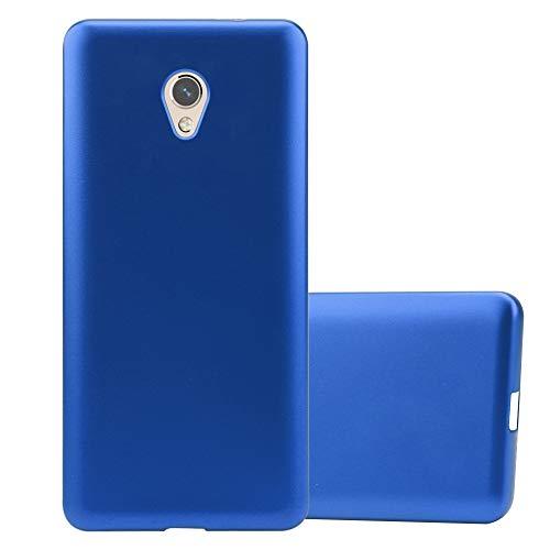 Cadorabo Funda para ZTE Blade V7 en Metallic Azul - Cubierta Proteccíon de Silicona TPU Delgada e Flexible con Antichoque - Gel Case Cover Carcasa Ligera