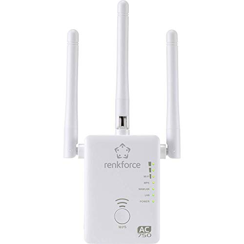 Renkforce WS-WN575A2 Dual Band AC750 WiFi Repeater 2.4GHz, 5GHz Repeater, Router, Access-Point
