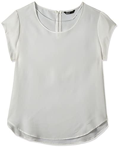 ONLY Damen T-Shirt Onlvic S/S Solid Top Noos Wvn , Weiß (Cloud Dancer Cloud Dancer) , 34