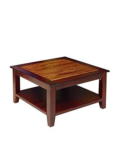 BG Furniture Sheesham Wood Small Coffee Table for Living Ro