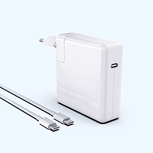 """Caricatore Mac Book Air Caricabatterie 61W USB C Alimentatore Mac Book Pro Compatible MacBook Pro 13"""",12"""", MacBook Air 13"""",Pad Pro, HUAWEI, SAMSUNG,Molti Altro dispositivo di Tipo C, Con Cavo 6.6ft"""