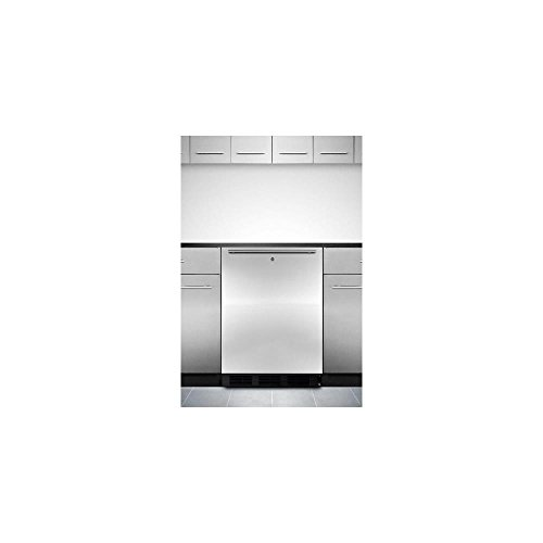 "Buy Bargain ALB753LBLSSHH 24″"" Compact ADA Compliant All Refrigerator with 5.5 Cu. Ft. Capacity Automatic Defrost Adjustable Glass Shelves Factory Installed lock Horizontal Handle and Stainless Steel Door"