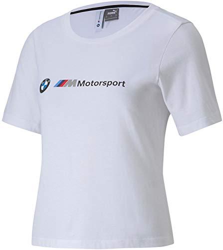 PUMA Formula 1 BMW Motorsport - Camiseta para Mujer, Color Blanco, Talla L