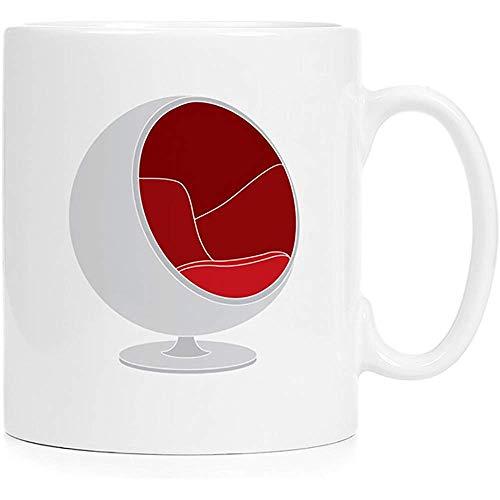 Stuhl-Design-Ikone - Saarinen - Farbenreicher keramischer Bechersublimationsdruck