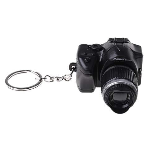 WOWOWO caméra Porte-clés Mini Reflex numérique Appareil Photo Reflex numérique LED Flash lumière Torche obturateur Son Porte-clés