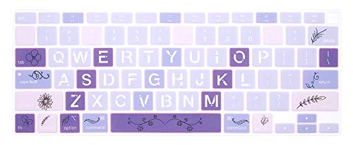 WYGCH Stylish Pattern Keyboard Cover A2179 Silicone Protective Skin Keyboard Protector for MacBook Air 13 inch with Touch ID A2337 M1 Chip US Layout (NOT FIT for 2018-2019 Version),Pluralism