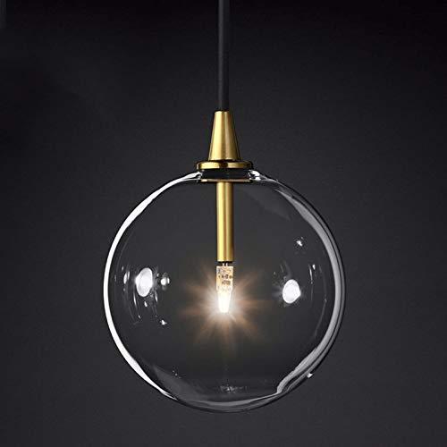 Hdmy Soap Bubble Light Modern Dream Lampada a sospensione in vetro trasparente Romanticismo romantico Lampadario a soffitto Moderna e minimalista Art Style Lampada sferica G4 Lamp Beads