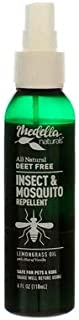 Medella Naturals All Natural DEET FREE Insect & Mosquito Repellent 4oz - 2 pack