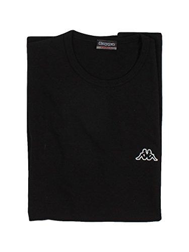 Kappa T-Shirt da Uomo Art. K1304 in Cotone Elasticizzato e a Girocollo (M, Bianco)